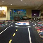 Carpet throughout the casino and hotel