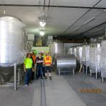 Installation of the fermentation cellar in August 2014.