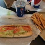 Italian hoagie and fries