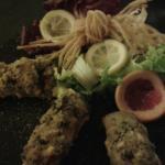 Cannoli pesce spada con pinoli e uva passa