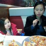 The Mrs n Daughter enjoying the Pizza.