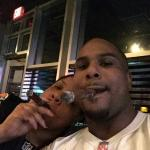 Celebration cigar on Browns victory over Falcons.  Normally casual dressy but game night you can