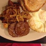 2 egg, home fries, sausage and GF toast