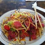 Fresh ahi salad was the lunch special