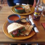 Yummy BLT and tomato soup.