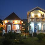 night view of the guesthouse