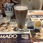 Salep with hot chocolate and cinnamon