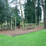 The kids playpark at the back with beer garden