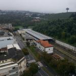 Vista sobre a estação de comboios.