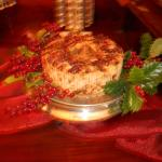 Holiday cake on the dining room sideboard