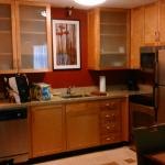 Kitchen area of suite