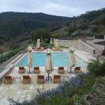 Pool with a view of beautiful Montalcino...