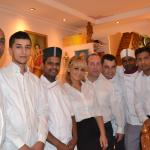 Staff de Restaurant GANDHI Saint Tropez 2014