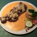 Amazing steak with stilton & mushrooms