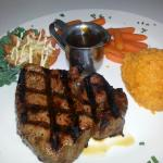 Sirloin sweet potatoes and candied carrots