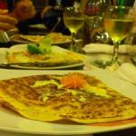 savoury crepes and fine greek wine!