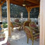 New covered patio by the pool