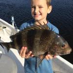 Carson with his Sheephead Fish