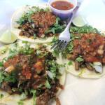 Tacos al pastor at Los Gordos in downtown Redding, Calif.