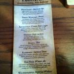 Partial List of Natty Green Brews on Tap