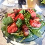 Candied Pork Belly and Grilled Watermelon Salad