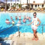 Aqua aerobics with the animation team :-)) xxxx