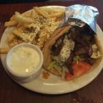 Gyro with greek fries