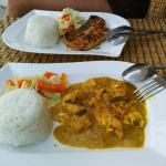 indian buttered chicken and grilled dorado fish!