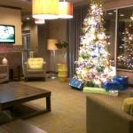 The Lobby decorated for the holidays.