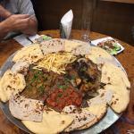 Tawa for 4. Chik karahi,lamb karahi,donner meat,seekh lamb,chik wings,chips and naanbreads