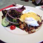 Brisket hash (Sunday brunch menu only) SO GOOD!