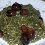 Paparina con olive e peperoncino