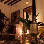 im stilvoll dekorierten Restaurant