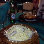 pasta alfredo con pollo