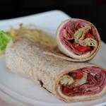 Italian ham in a wrap