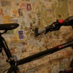 Bike and map