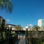 Foto da área externa do hotel