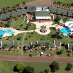 Foto aérea del complejo