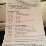 Disney shuttle schedule from Nov 2014