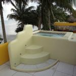 Lovely jacuzzi on top of the room