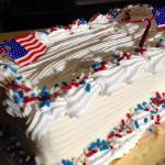 All American! Ice Cream Cakes with Fudge in the middle!