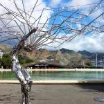 Detalle árbol metalizado
