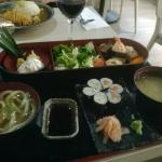 Sushi bento box £12.90 (dinner time) and Chicken Katsu curry £8.90 in the background