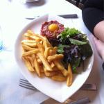 Tartare de veau et ses frites