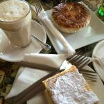 Delicious scallop pie and vanilla slice