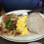 Chicken-fried steak breakfast
