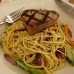Tuna steak and noodles