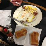 Eggs and bacon at Trading Post