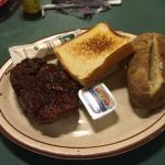 Fillet steak with baked potato
