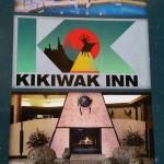 Front door advertising signage, KiKiWak Hotel and Conference Centre  |  Highway 10, The Pas, Man